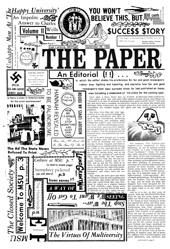 The Paper Vol. II No. 1 — Sep. 29, 1966